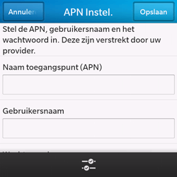 BlackBerry Q10 - internet - handmatig instellen - stap 8