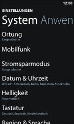 Nokia Lumia 800 - Netzwerk - Netzwerkeinstellungen ändern - Schritt 4