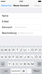 Apple iPhone 5s - E-Mail - Manuelle Konfiguration - Schritt 12