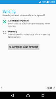 Sony Xperia Z5 Premium (E6853) - Android Nougat - E-mail - Manual configuration IMAP without SMTP verification - Step 20