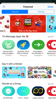 Apple Apple iPhone 6s Plus iOS 10 - iOS features - Send iMessage - Step 18