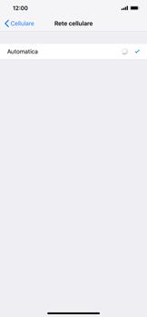 Apple iPhone XS Max - Rete - Selezione manuale della rete - Fase 6