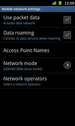 Samsung Galaxy S Advance - Network - Manual network selection - Step 6