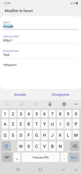 Samsung Galaxy Note20 Ultra 5G - Internet et connexion - Naviguer sur internet - Étape 11