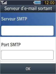Samsung B3410 Star Qwerty - E-mail - Configuration manuelle - Étape 21