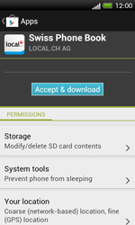 HTC One SV - Applications - Installing applications - Step 8
