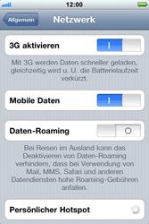Apple iPhone 3GS - Netzwerk - Netzwerkeinstellungen ändern - Schritt 5