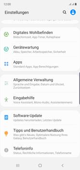 Samsung Galaxy Note 10 - Startanleitung - So fügen Sie eine Tastatursprache hinzu - Schritt 4