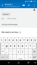 HTC Desire 626 - Email - Sending an email message - Step 10