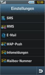 Samsung S8000 Jet - SMS - Manuelle Konfiguration - Schritt 4