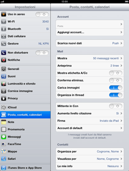 Apple iPad Retina - E-mail - Configurazione manuale - Fase 14
