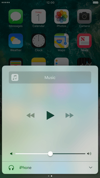 Apple Apple iPhone 6s Plus iOS 10 - iOS features - Control Centre - Step 11