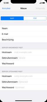 Apple iPhone X - E-mail - Account instellen (IMAP met SMTP-verificatie) - Stap 11