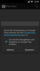 Sony Xperia U - Apps - Einrichten des App Stores - Schritt 14