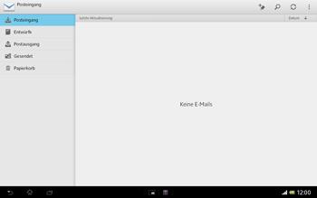 Sony Xperia Tablet Z LTE - E-Mail - Konto einrichten - 0 / 0