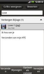 HTC S510b Rhyme - E-mail - hoe te versturen - Stap 13
