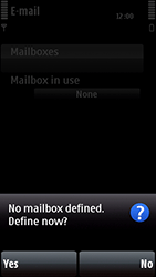 Nokia 5800 Xpress Music - Email - Manual configuration POP3 with SMTP verification - Step 7