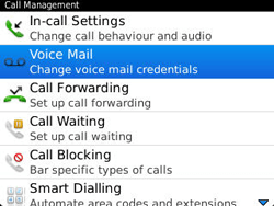 BlackBerry 9320 Curve - Voicemail - Manual configuration - Step 5