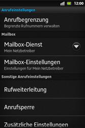Sony Xperia Go - Anrufe - Rufumleitungen setzen und löschen - 5 / 9