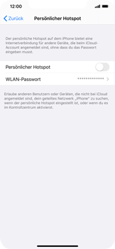 Apple iPhone XR - iOS 13 - WiFi - So aktivieren Sie einen WLAN-Hotspot - Schritt 4