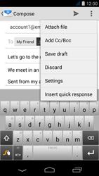 Acer Liquid Jade S - E-mail - Sending emails - Step 10