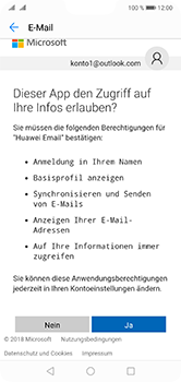 Huawei P20 Lite - E-Mail - Konto einrichten (outlook) - 9 / 12