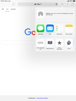 Apple iPad Mini 3 - iOS 12 - Internet - Internet browsing - Step 5
