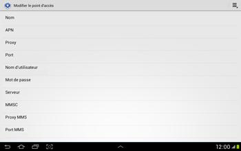 Samsung Galaxy Tab 2 10.1 - Internet et roaming de données - Configuration manuelle - Étape 11