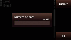 Nokia N97 Mini - E-mail - Configuration manuelle - Étape 18