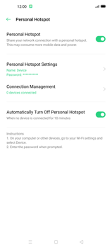 Oppo Find X2 Pro - WiFi - How to enable WiFi hotspot - Step 12
