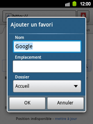 Samsung S5360 Galaxy Y - Internet - navigation sur Internet - Étape 5