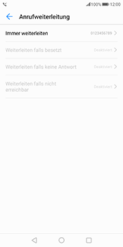 Huawei Mate 10 Pro - Anrufe - Rufumleitungen setzen und löschen - Schritt 8