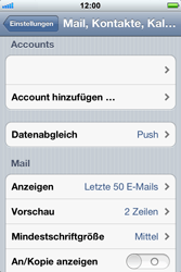 Apple iPhone 3GS - E-Mail - Konto einrichten - Schritt 12