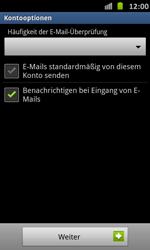 Samsung Galaxy S Advance - E-Mail - Manuelle Konfiguration - Schritt 14