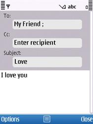 Nokia C5-00 - E-mail - Sending emails - Step 8