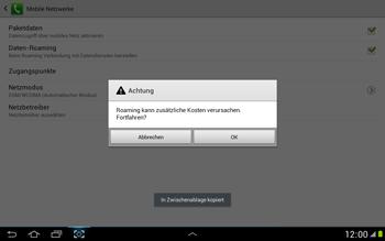 Samsung N8000 Galaxy Note 10-1 - Ausland - Im Ausland surfen – Datenroaming - Schritt 9