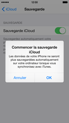 Apple iPhone 5s - iOS 8 - Applications - configuration du service iCloud d