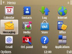 Nokia E72 - MMS - Sending pictures - Step 2