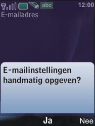 Nokia 6600i slide - E-mail - Handmatig instellen - Stap 12