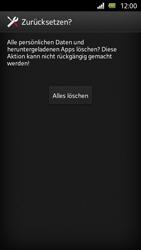 Sony Xperia U - Gerät - Zurücksetzen auf die Werkseinstellungen - Schritt 7