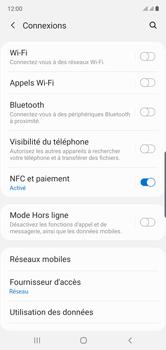 Samsung Galaxy Note 10 - Internet et roaming de données - Comment vérifier que la connexion des données est activée - Étape 5