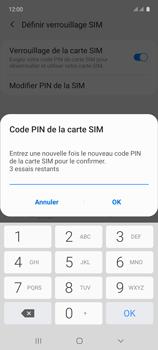 Samsung Galaxy A71 - Sécuriser votre mobile - Personnaliser le code PIN de votre carte SIM - Étape 11