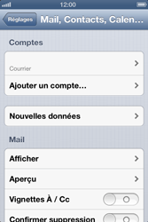 Apple iPhone 4S - E-mail - Configuration manuelle - Étape 12