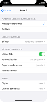 Apple iPhone X - iOS 13 - E-mail - configuration manuelle - Étape 22