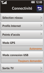 LG GD900 Crystal - Internet - Configuration manuelle - Étape 4