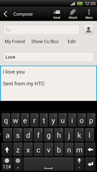 HTC S728e One X Plus - Email - Sending an email message - Step 9