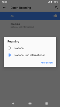 Sony Xperia XZ2 Premium - Android Pie - Ausland - Auslandskosten vermeiden - Schritt 10