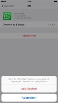 Apple iPhone 6s Plus - Apps - Eine App deinstallieren - Schritt 8