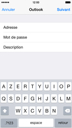 Apple iPhone 5s iOS 8 - E-mail - 032c. Email wizard - Outlook - Étape 8
