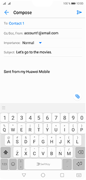 Huawei P20 Pro - E-mail - Sending emails - Step 8